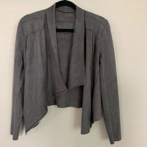 BLANKNYC grey faux suede jacket